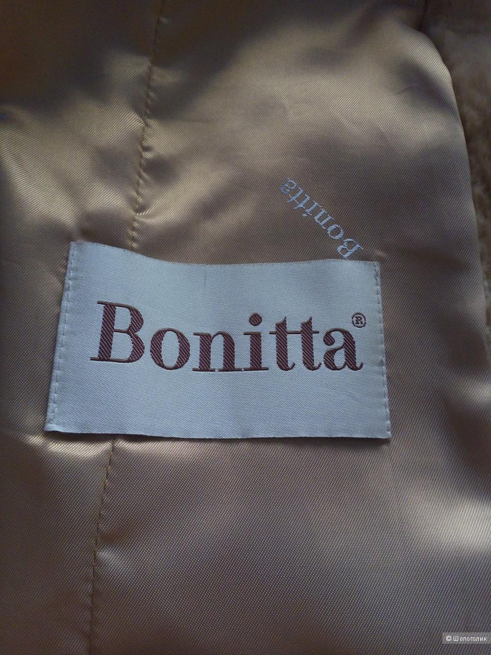 Мутоновая шуба с мехом лисы Bonitta, 46