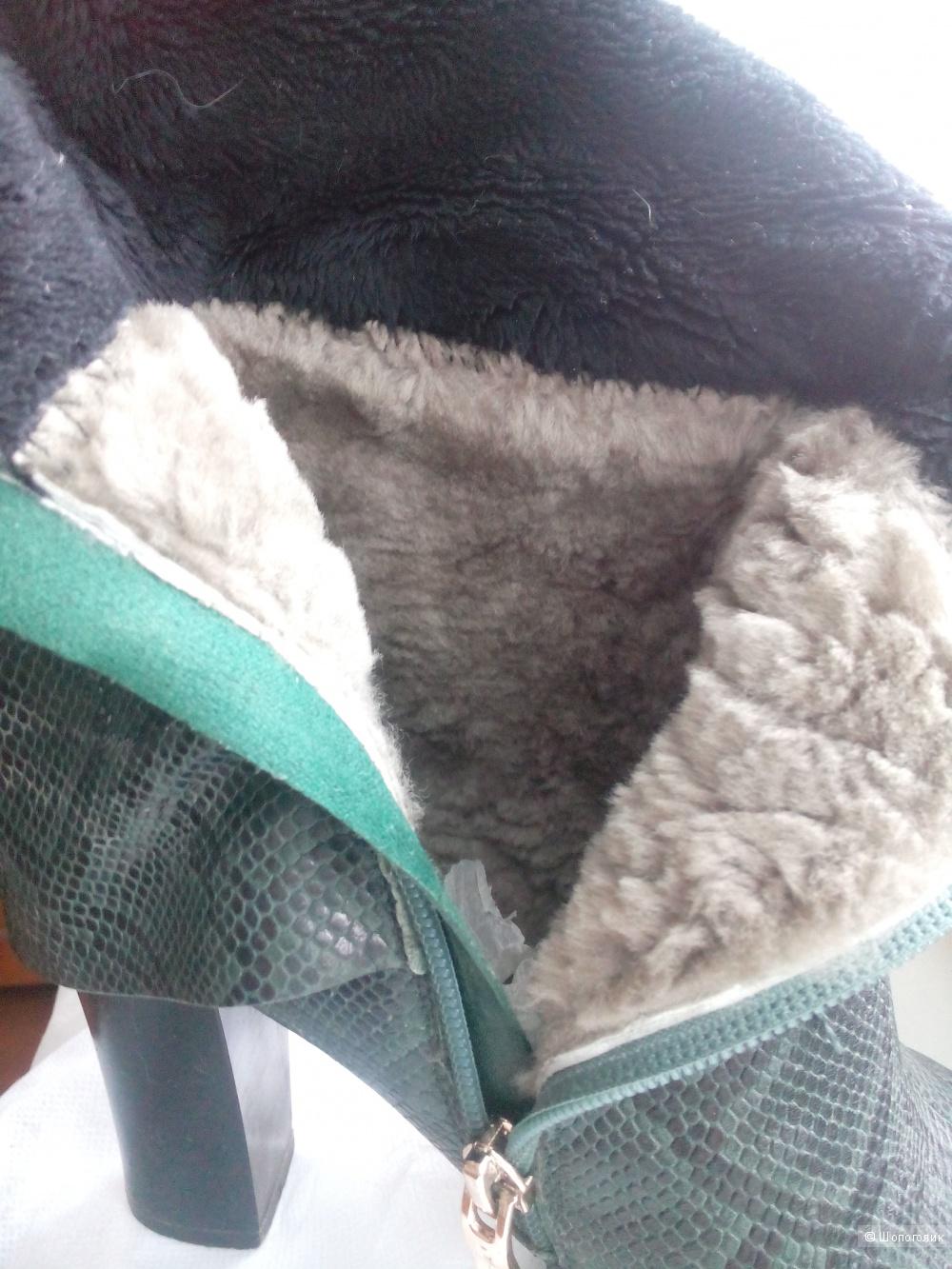 Женские зимние сапоги ботфорты OILEEIA, 37 размер