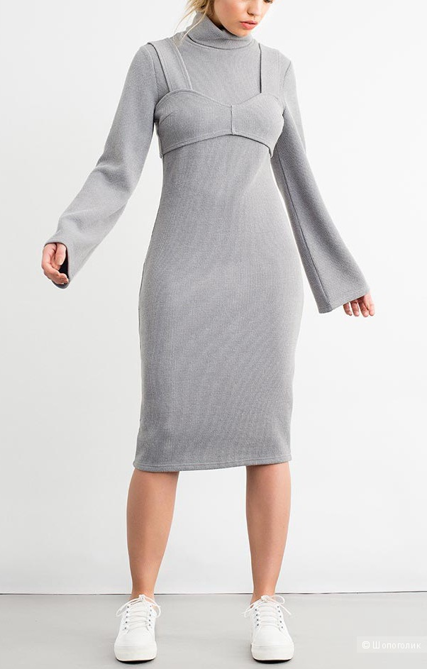 Платье со съёмным браллет, LOST INK, р-р 46-48