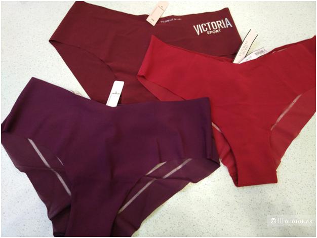 Бесшовные трусики Victoria`s Secret маркировка М (комплект из 3х шт)