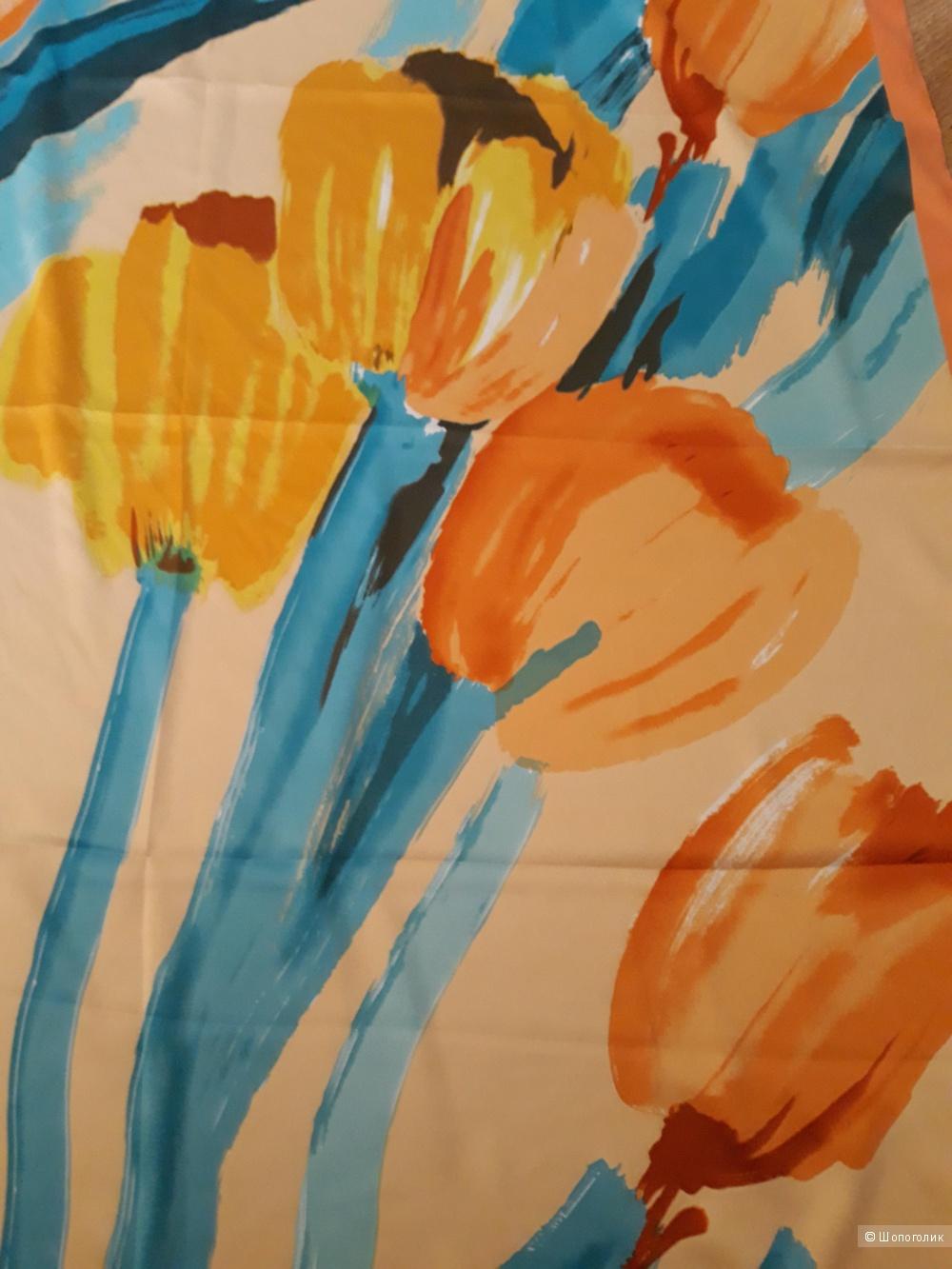 "Платок ""Тюльпаны"", 90*90"