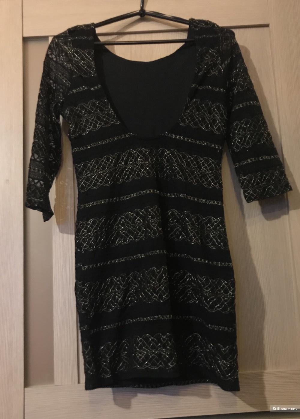 Платье с люрексом, 42 размера