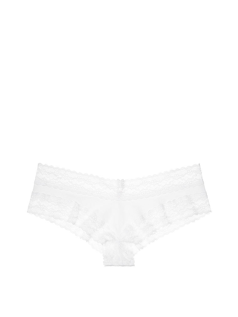 Трусики Victoria's Secret  Lace-waist Cheeky Panty, размер S (Сет из 3 штук)