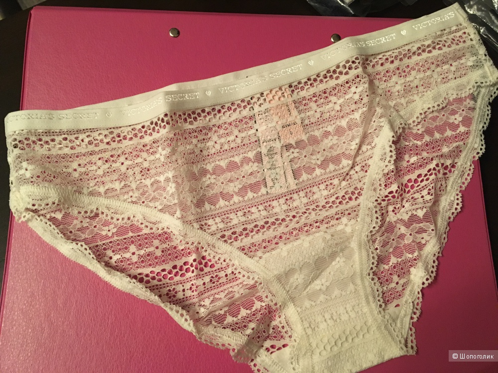 Кружевные трусики бикини Victoria's Secret, размер S (сет из 3 штук)