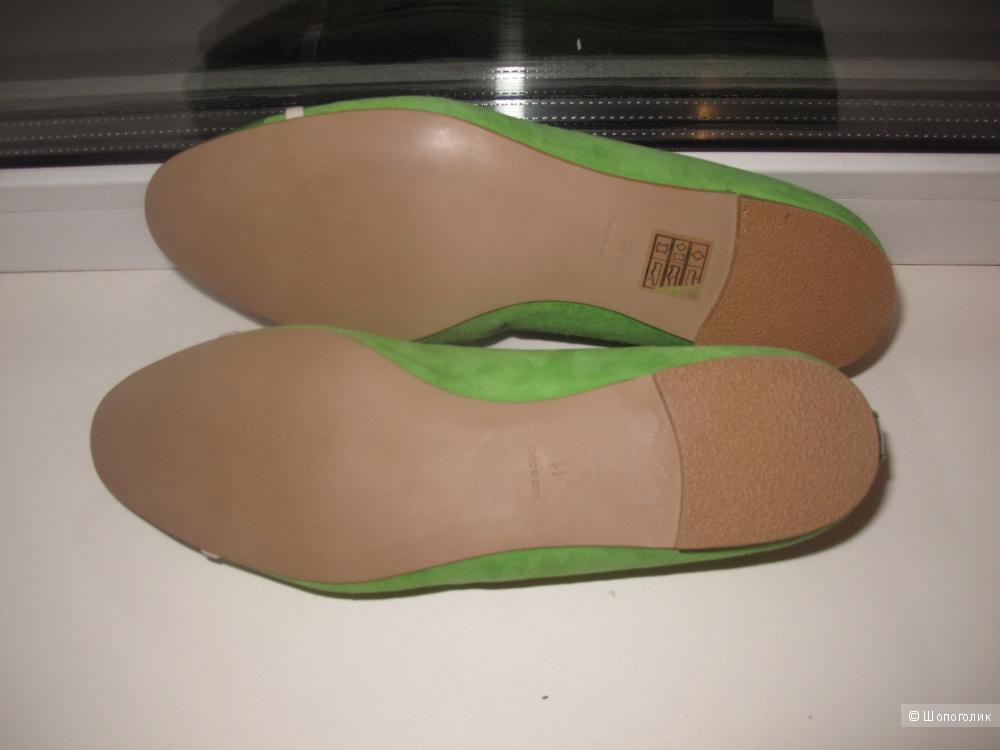 Туфли-балетки натуральная замша р 41