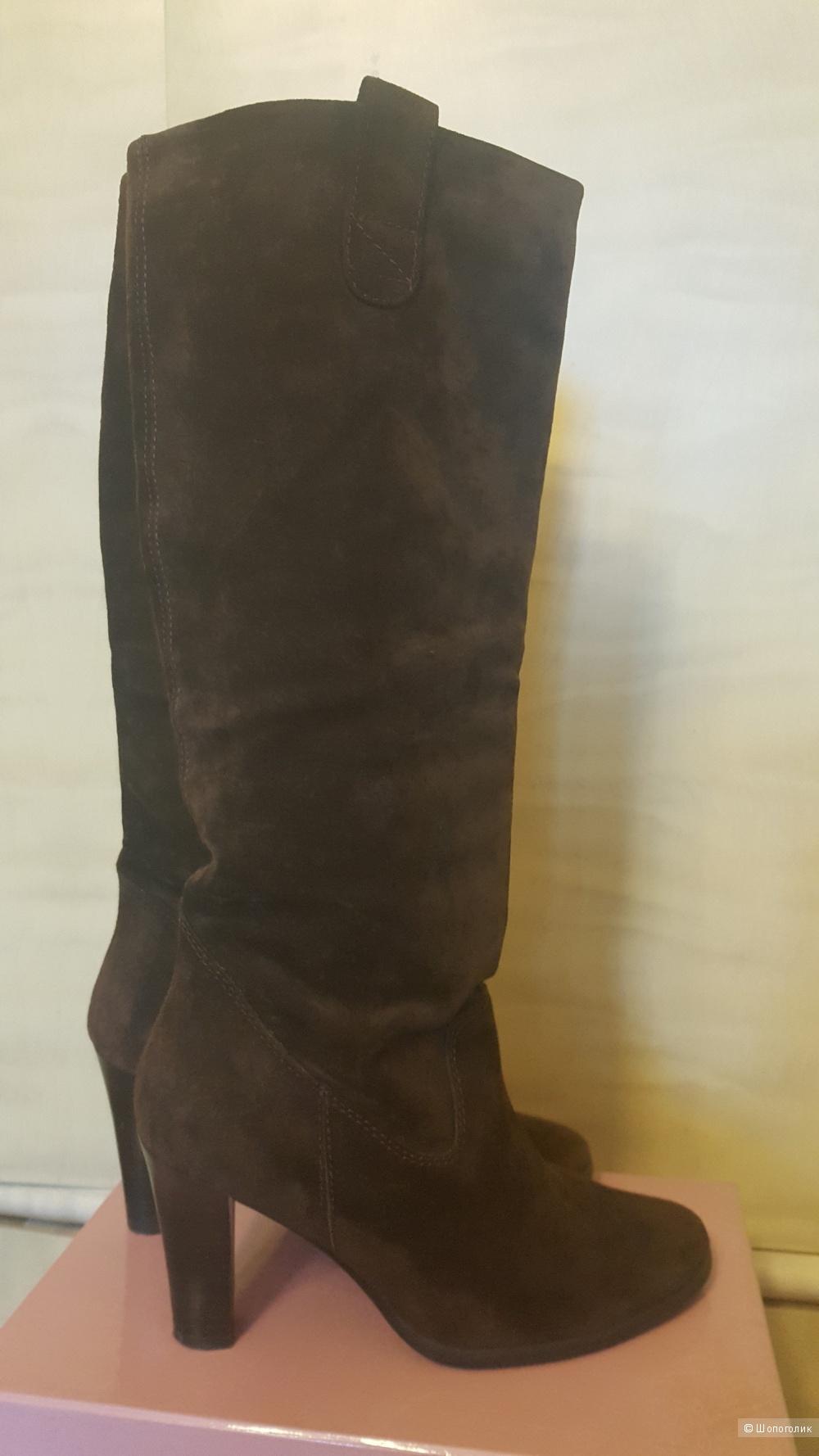 Сапоги из натуральной замши Zara, 38 размер