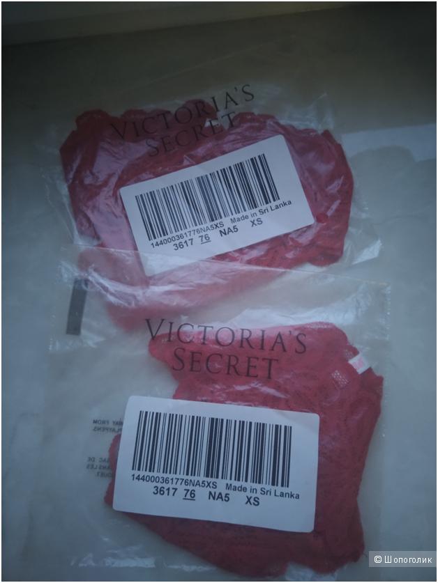 Кружевные трусики PINK Victorias Secret XS (комплект 2шт)