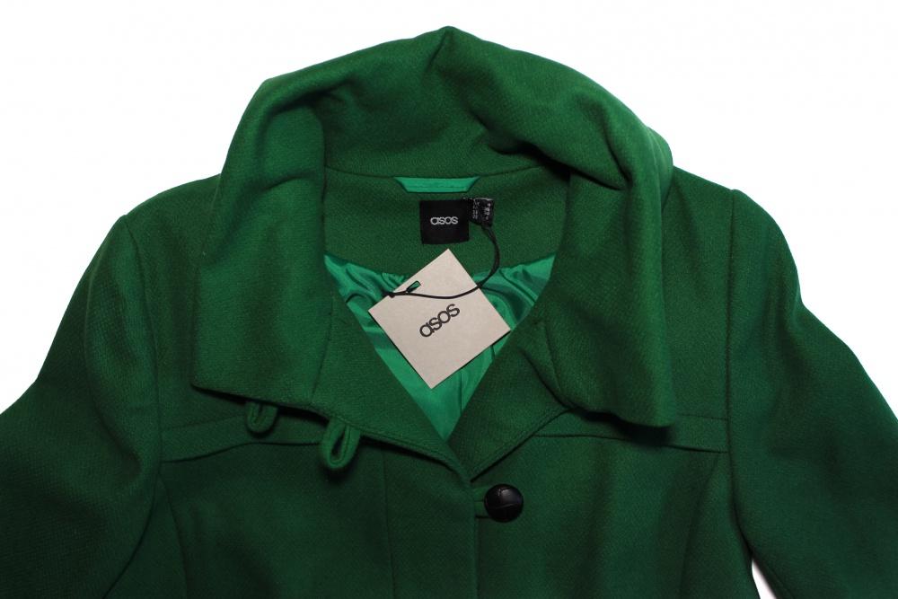 Зеленое пальто ASOS, размер UK8 (42)