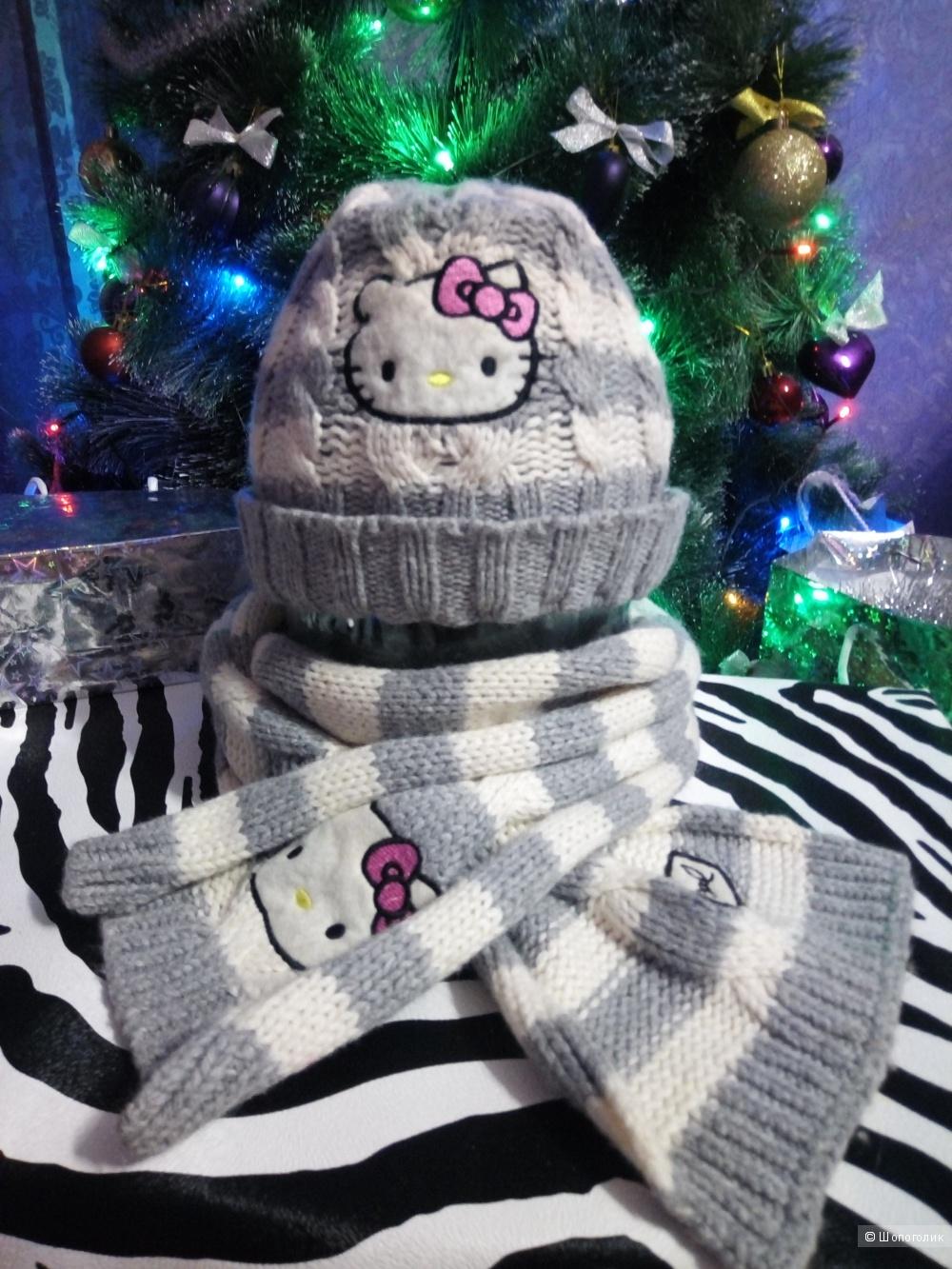 Комплект шапка и шарф HELLO KITTY, 8-12 лет
