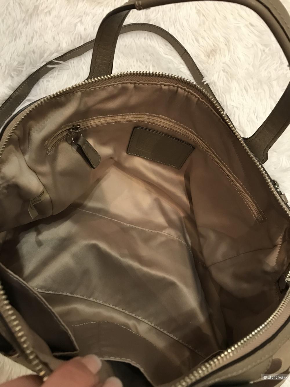 Платье Marc O'Polo, кардиган Sense, сумка Coach 46