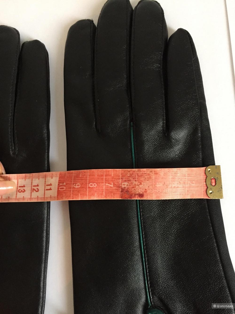Кожаные перчатки, размер M/L
