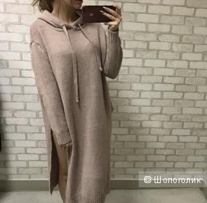Платье с капюшоном, Zyc, размер единый, цвет Марсала