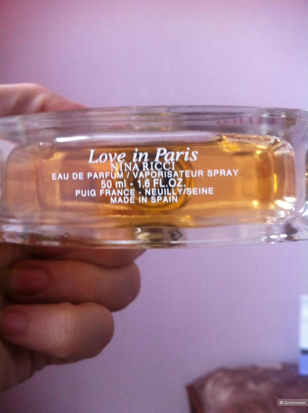 "Туалетная вода Nina Rici ""Love in Paris"", 50 ml"