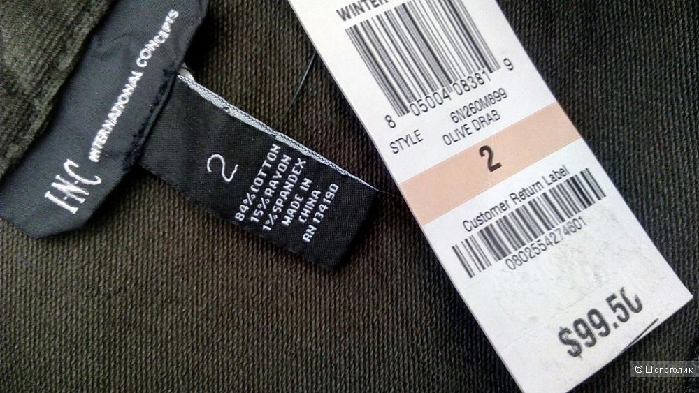 Платье-рубашка I.N.C., размер 2 (42-44)
