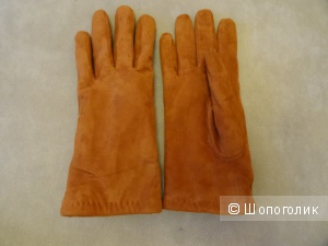 Перчатки искусственная замша, размер 7,5