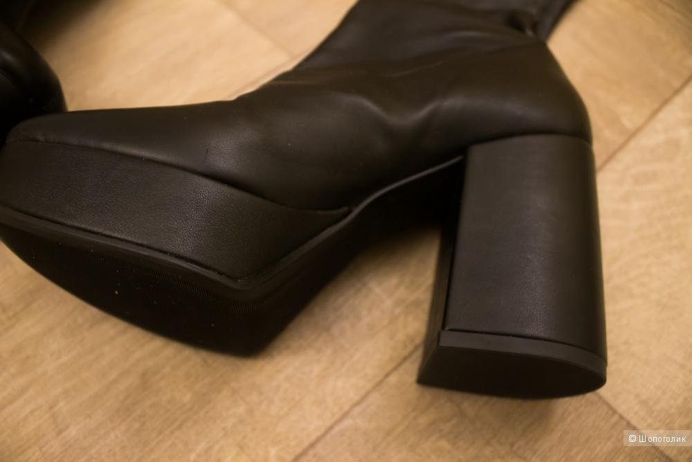Кожаные сапоги-чулки/ботфорты VIC MATIE р-р 37