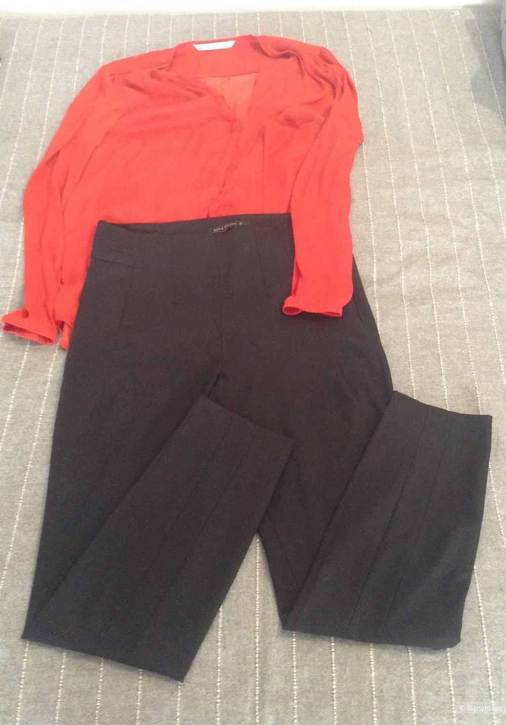 Брюки Zara р-р L, блуза Zara р-р XL