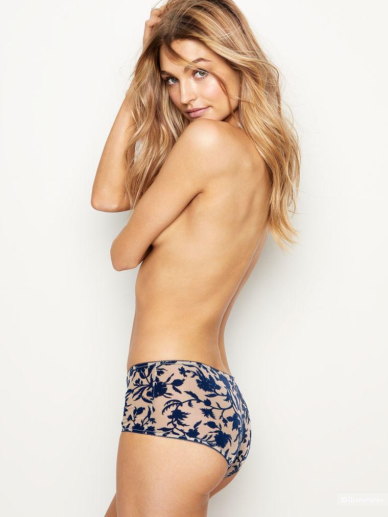 Бархатные трусики - шортики Victoria's Secret, размер S (сет из двух штук)