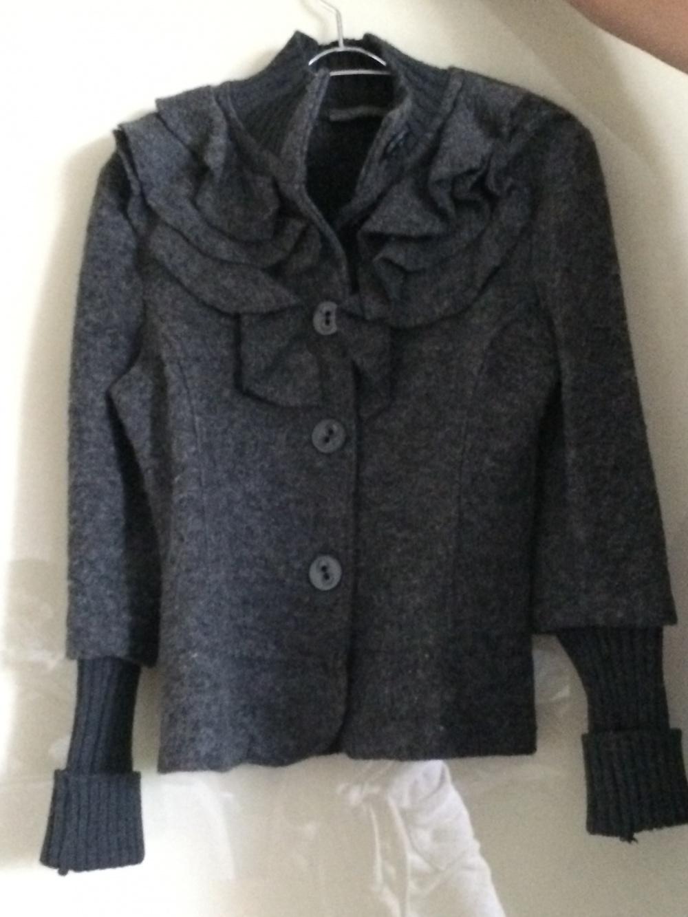 Куртка-пиджак из валеной шерсти, Италия,р.46, TWEEN