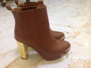 Кожаные ботинки 39 размер Mai Piu Senza