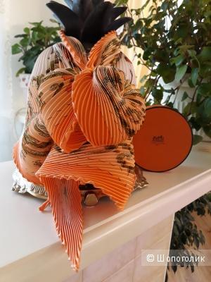 Платок Hermes, плиссе 90*90