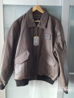 Кожаная куртка бомбер Alpha Industries CWU 45P