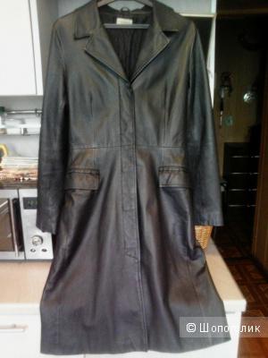 Кожаное пальто. Clockhouse. 44 размер (38-40).