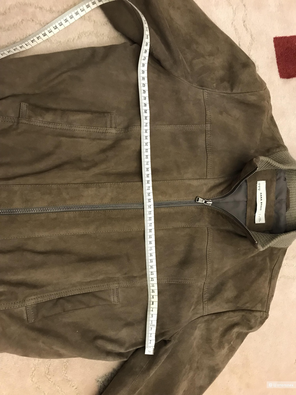Замшевая куртка Zara, L-XL