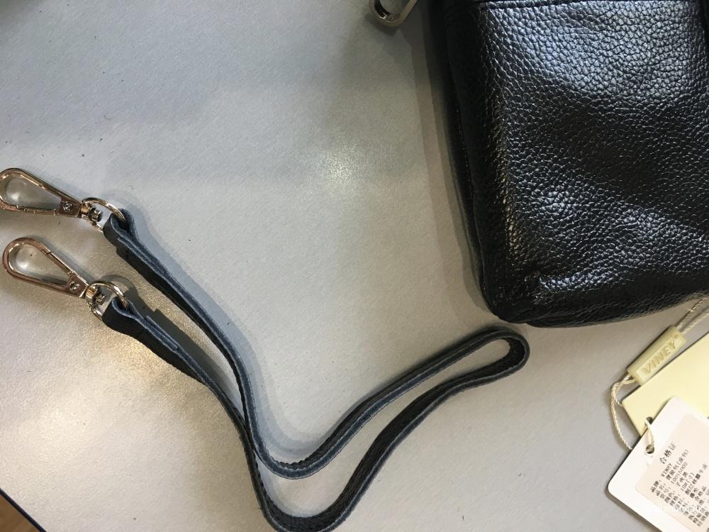 Кожаная сумочка-кроссбоди-клатч.