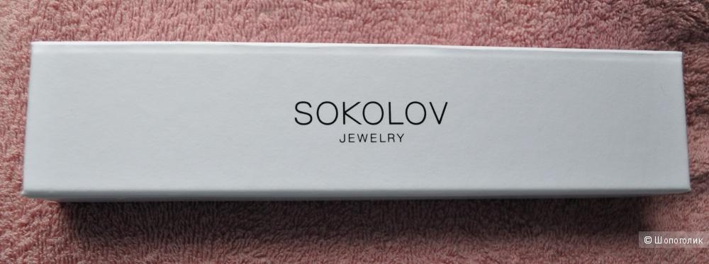 Браслет из серебра с фианитами SOKOLOV 18 размер