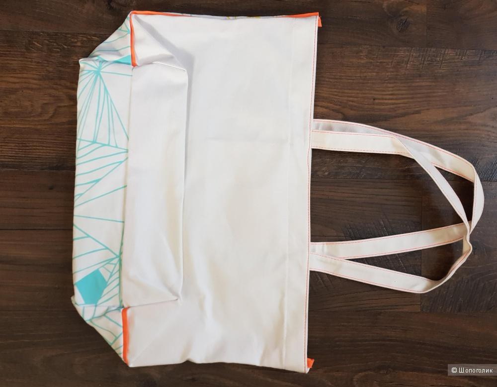 Пляжная сумка с косметичкой,Shiseido, 100% хлопок
