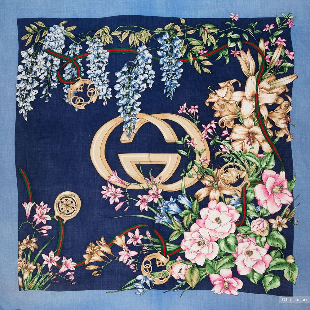 Платок Gucci Flora, 90*90 см.