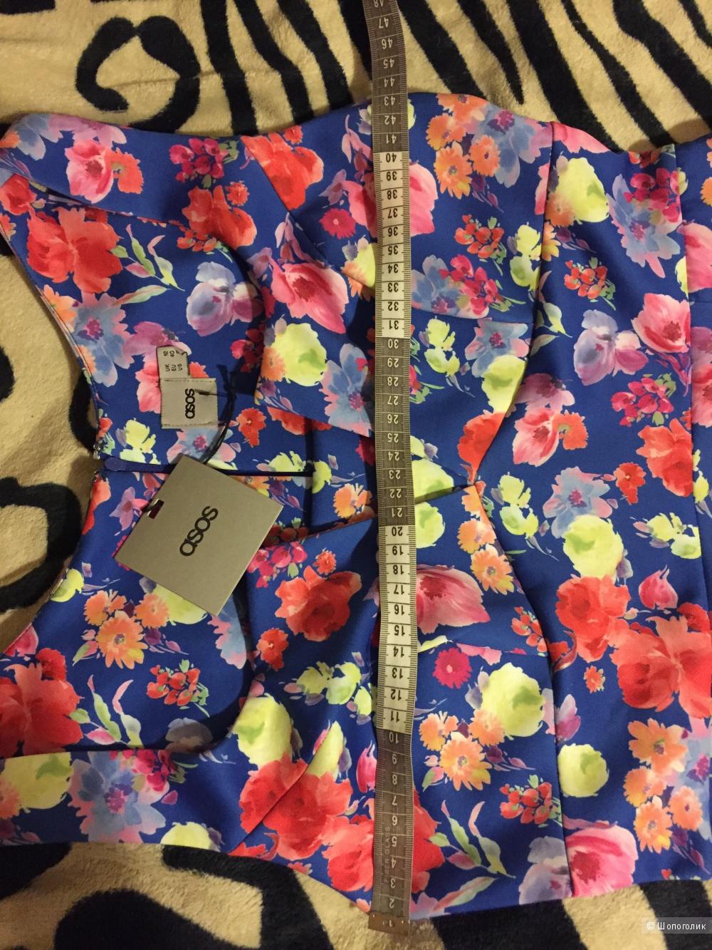 Платье с баской Асос размер 12UK.