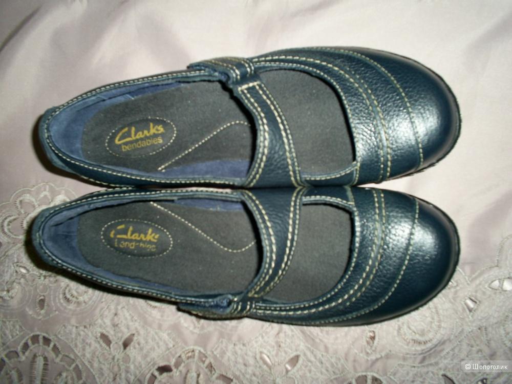 Кожаные туфли от Clarks h 6,5 анг. на 40 рус.
