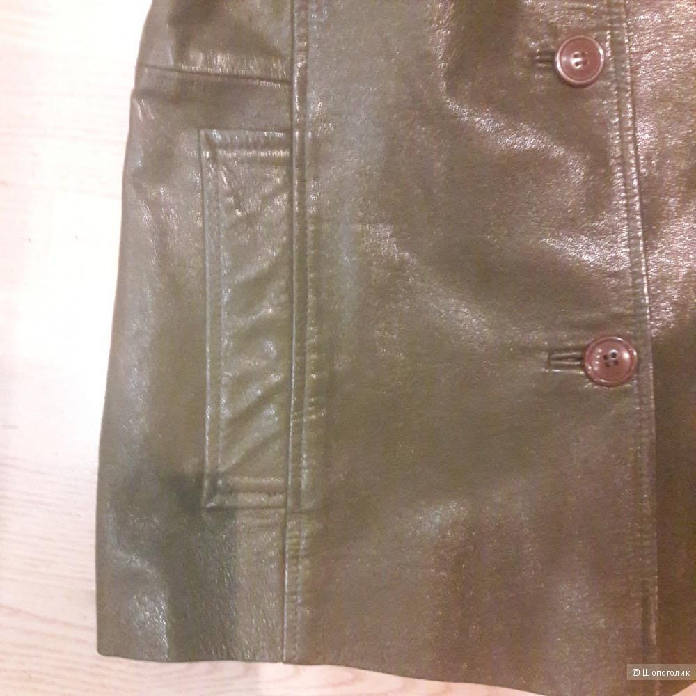 Кожаная куртка пиджак Gipsy by Mauritius размер 44-46
