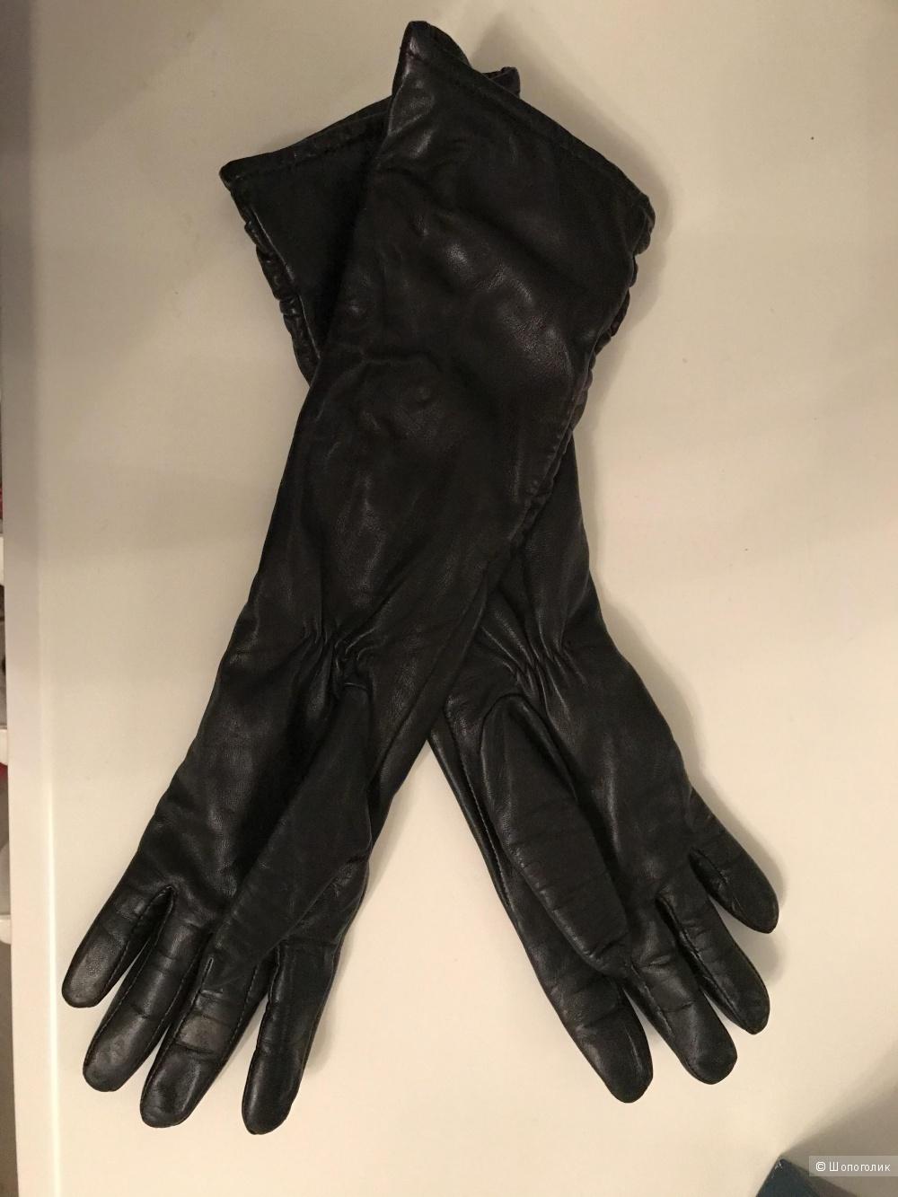 Перчатки кожанные, размер 7,5. Фирма «Eleganzza»
