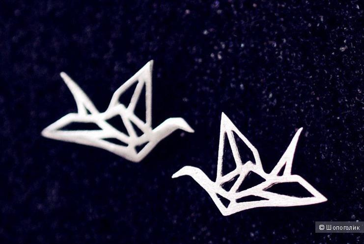 """Серьги """"Оригами"""", серебро 925"""