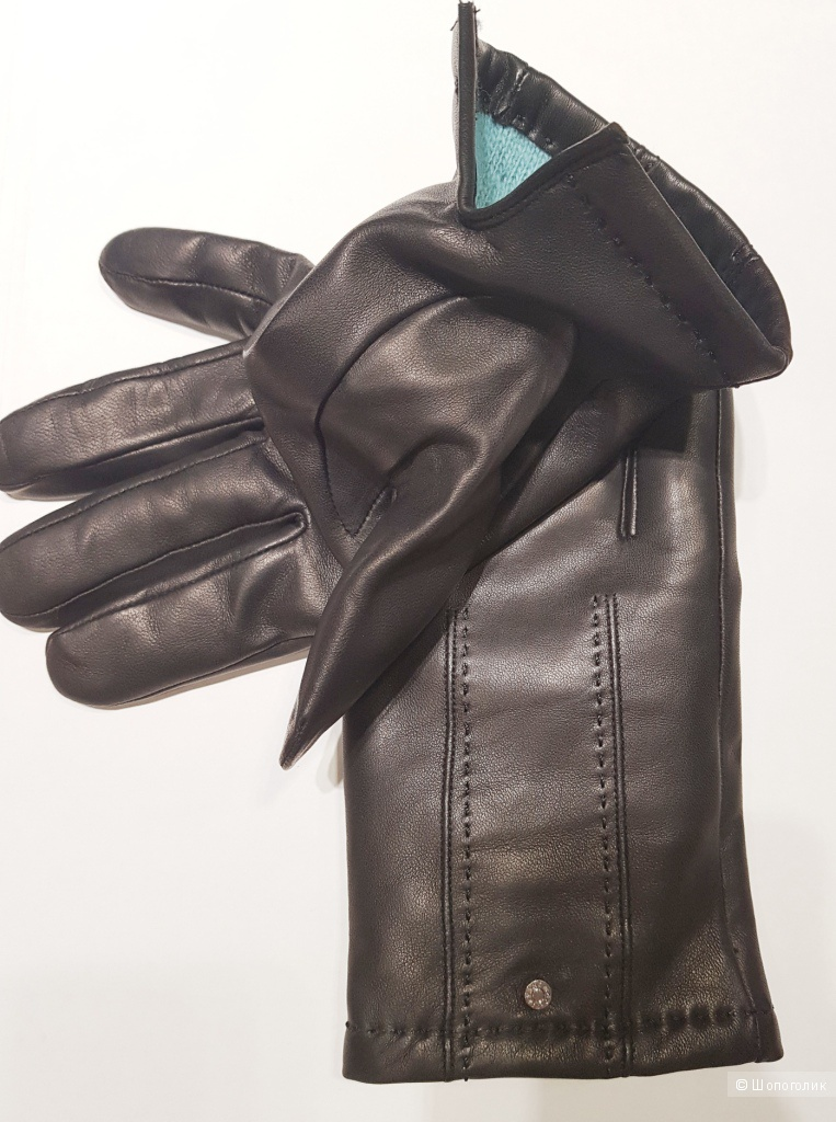 TIFFANY мужские кожаные перчатки р.9.5