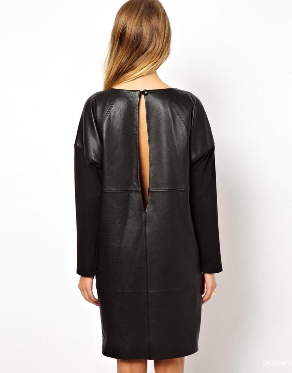 Кожаное платье Asos, размер 42