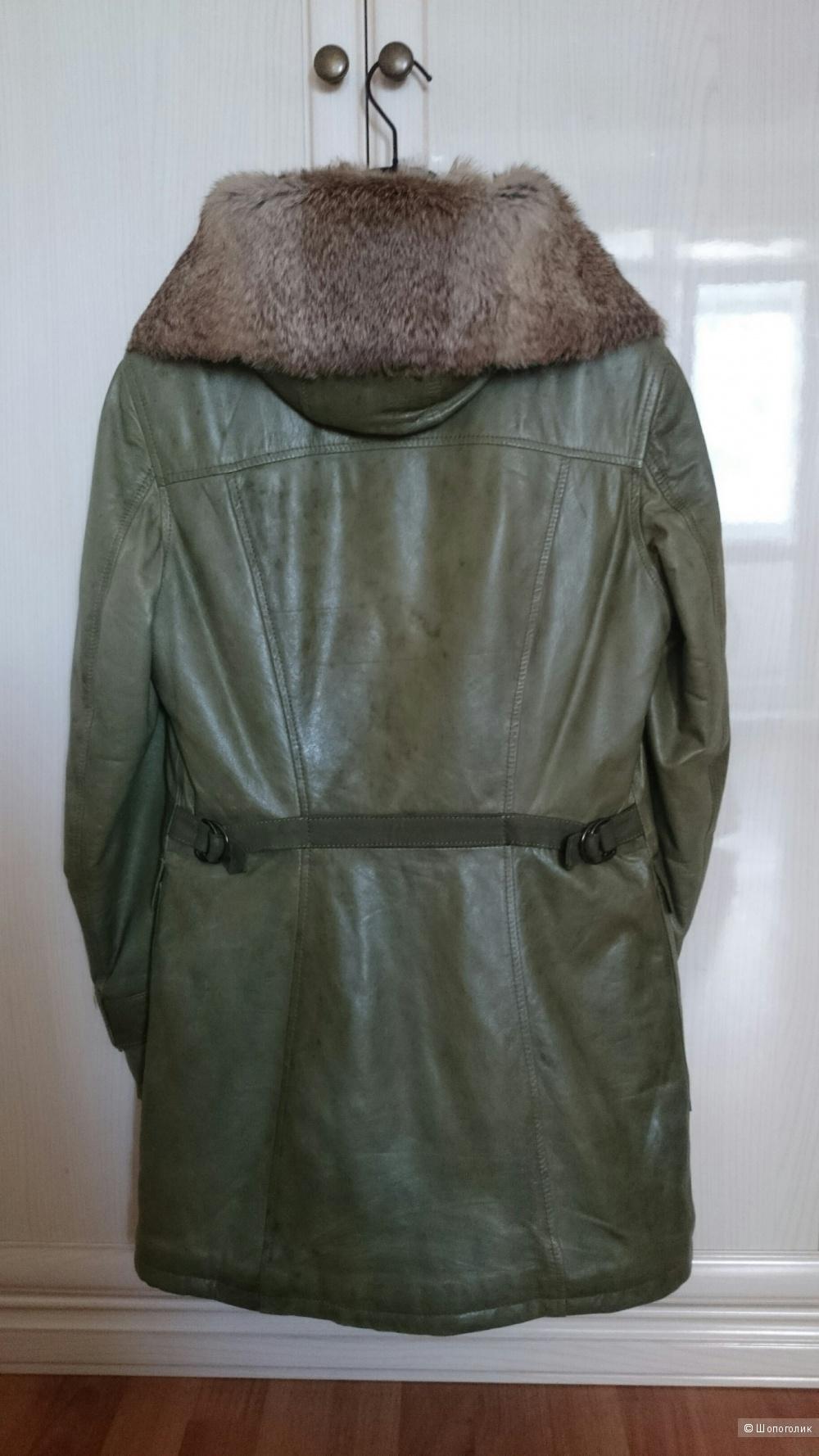 Кожаная парка/пальто Coccinelle, размер 42-44