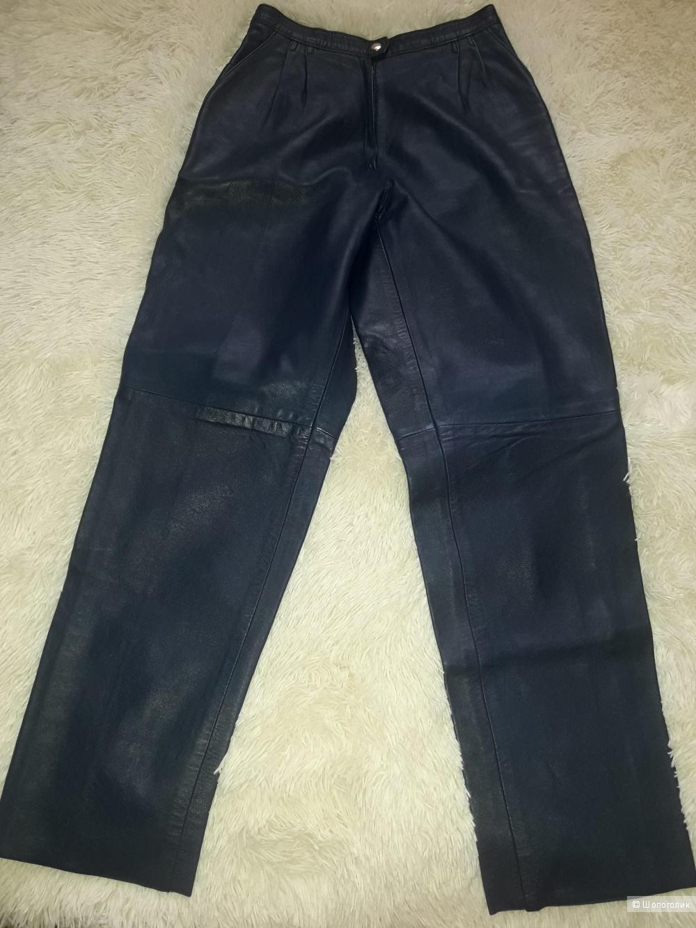 Женские кожаные брюки размер 44-46