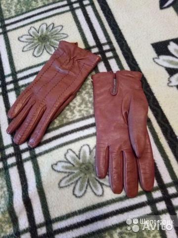 Перчатки натуральная кожа, 7 размер