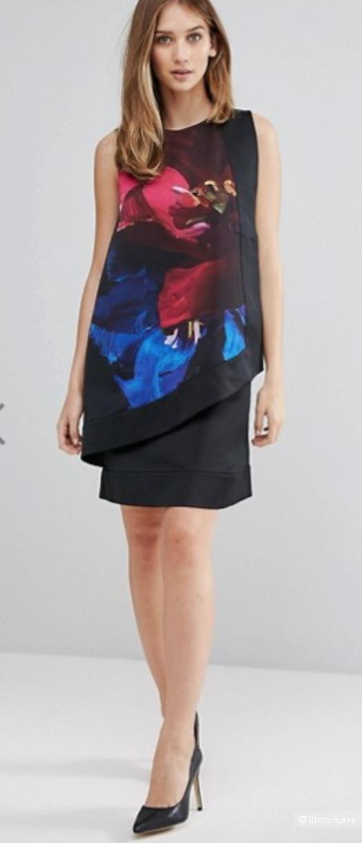 Ярусное платье Ted Baker Impressionist Bloom, размер диз. 4, на рос. 48