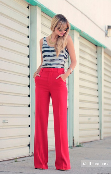 Льняные брюки бренда H&M, размер 48-50-52