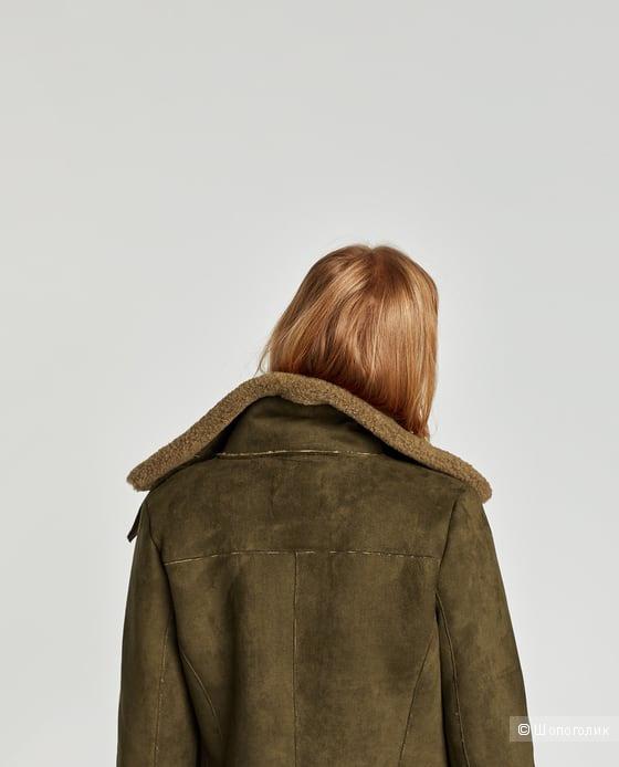 Искусственная дубленка Zara размер XS-M