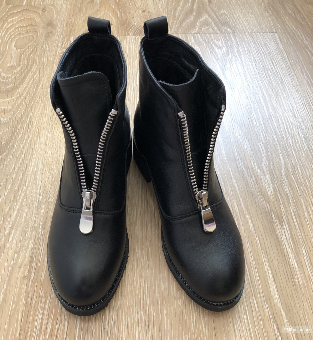 Кожаные ботинки noname, 37