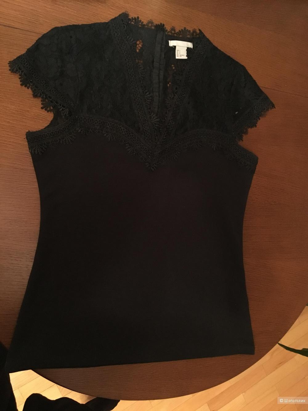 Блуза с кружевом H&M размер S