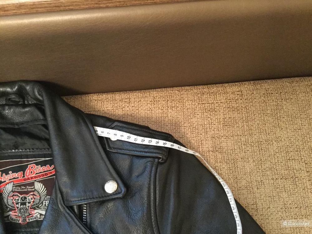 Куртка косуха женская Flying Bikes натуральная кожа, р-р 42-44