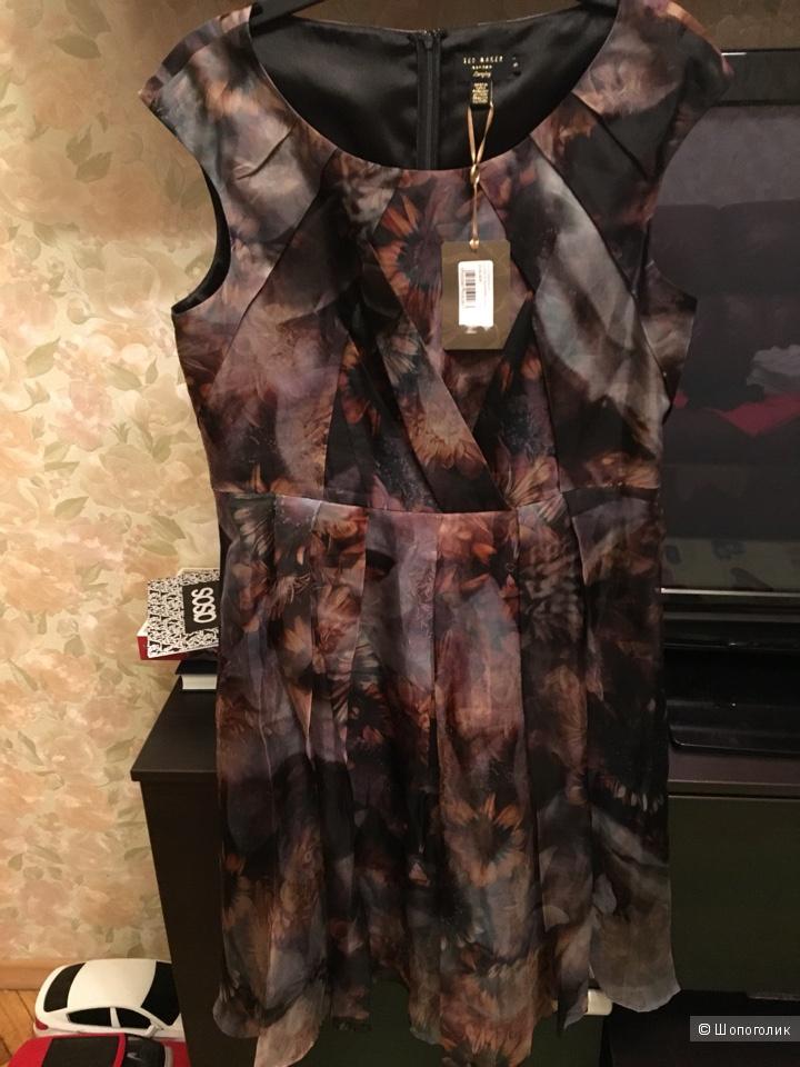 Шелковое платье Ted Baker, размер 5