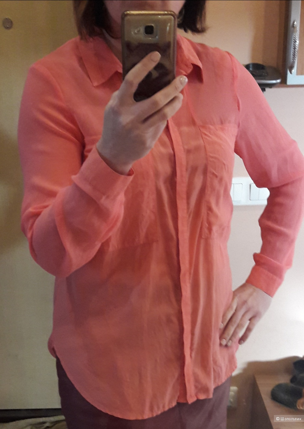 Шифоновая блузка Warehouse размер 46-48